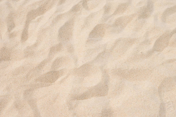closeup of sand pattern of a beach in the summer - piasek zdjęcia i obrazy z banku zdjęć