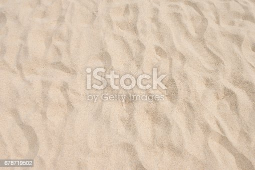 678719470 istock photo closeup of sand pattern of a beach in the summer 678719502