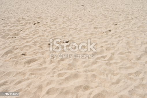 678719470 istock photo closeup of sand pattern of a beach in the summer 678719622