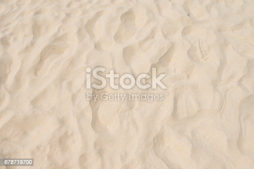 678719470 istock photo closeup of sand pattern of a beach in the summer 678719700