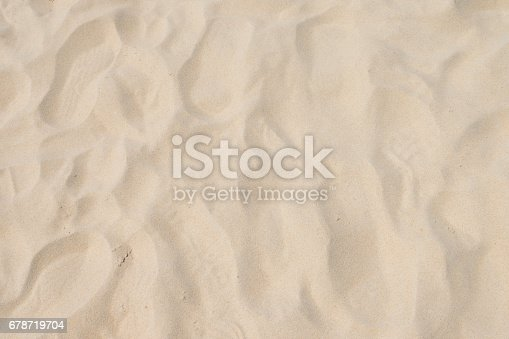 678719470 istock photo closeup of sand pattern of a beach in the summer 678719704