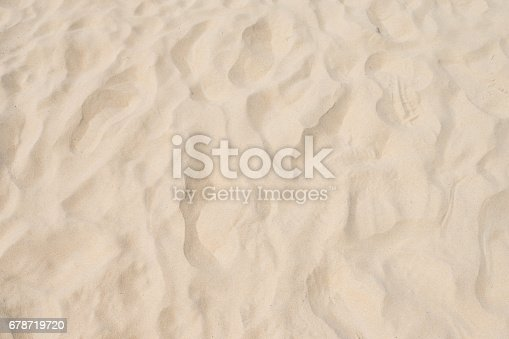 678719470 istock photo closeup of sand pattern of a beach in the summer 678719720