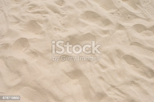 678719470 istock photo closeup of sand pattern of a beach in the summer 678719850