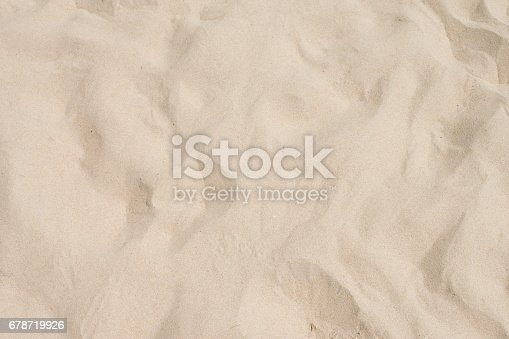 678719470 istock photo closeup of sand pattern of a beach in the summer 678719926