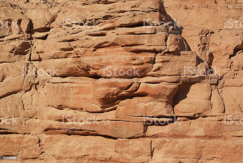 Close-up of sandstone royalty-free stock photo