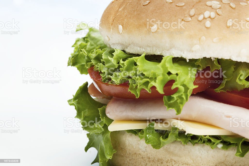 Close-up of sandwich royalty-free stock photo