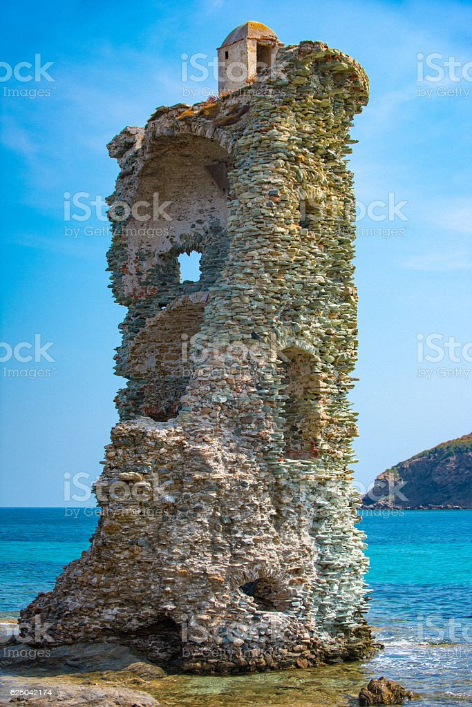 close-up of Santa Maria tower stock photo