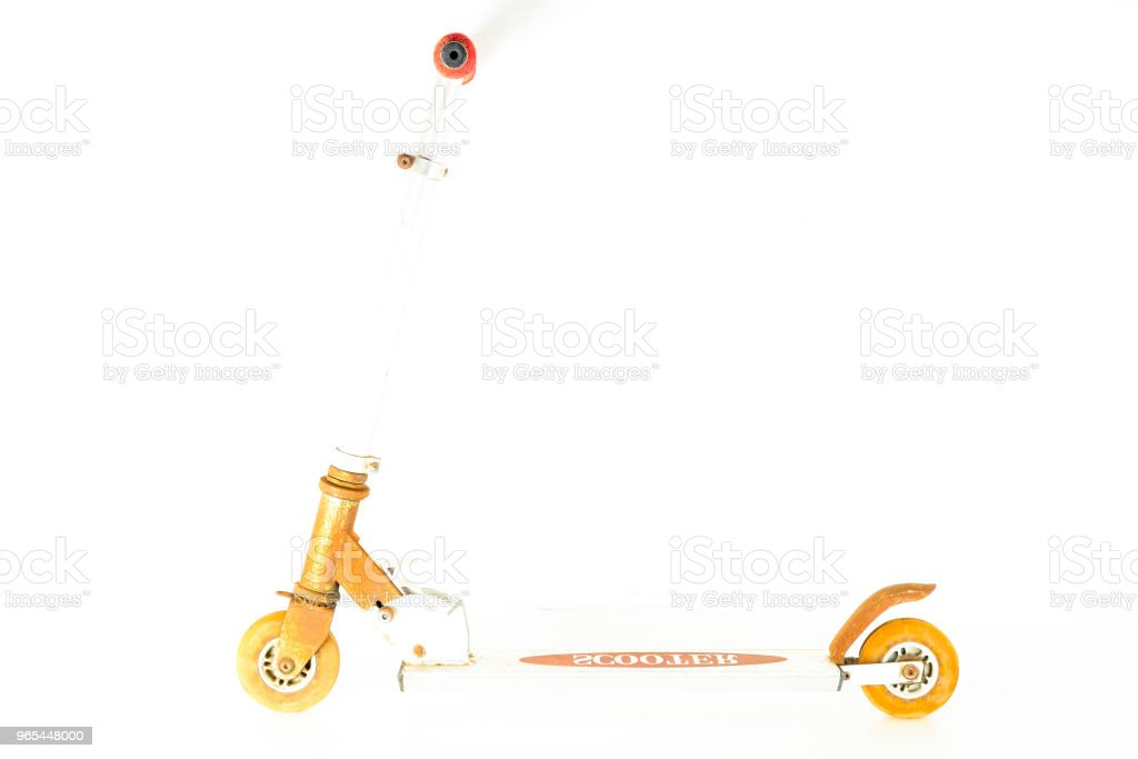 Close-up of scooter skate royalty-free stock photo