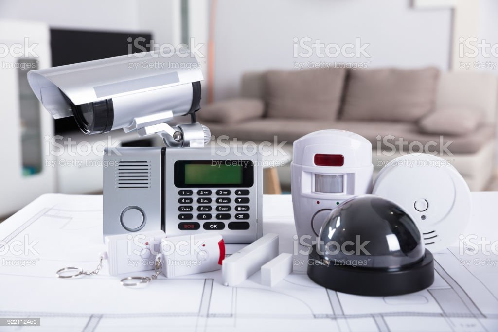 Close-up Of Security Equipments stock photo