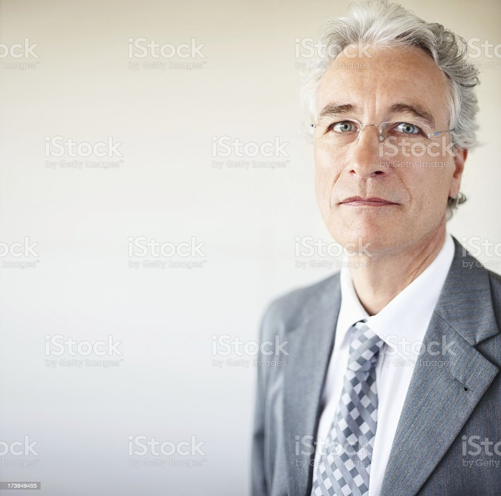 Close-up of senior businessman royalty-free stock photo