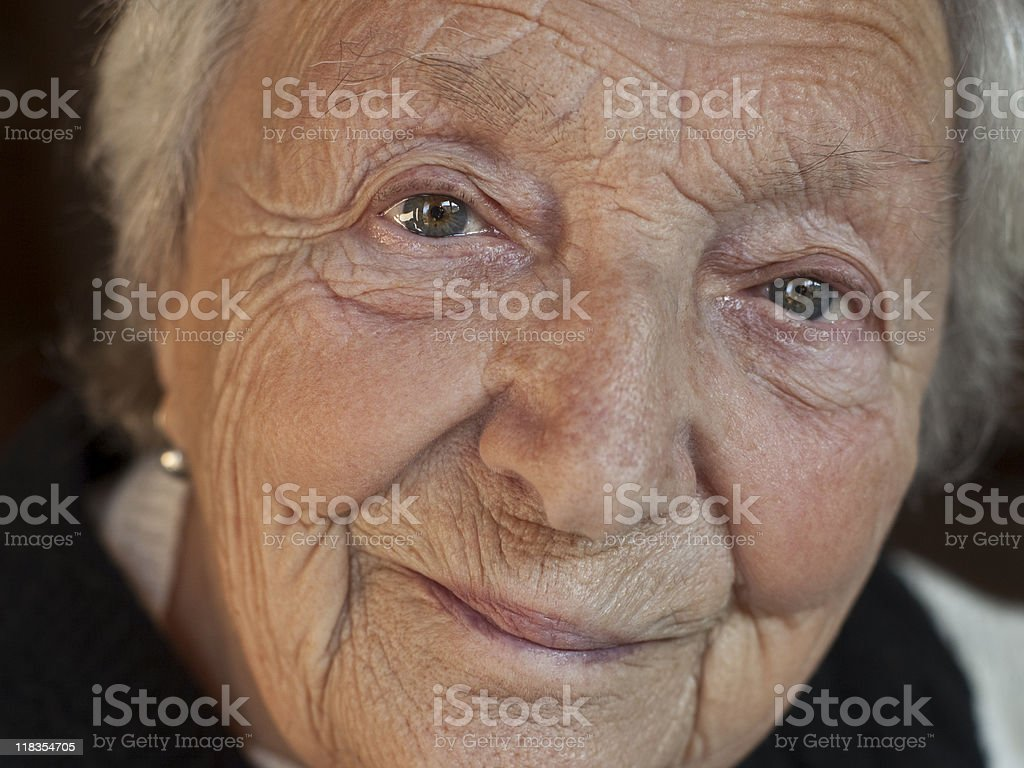 Close-up of senior woman royalty-free stock photo