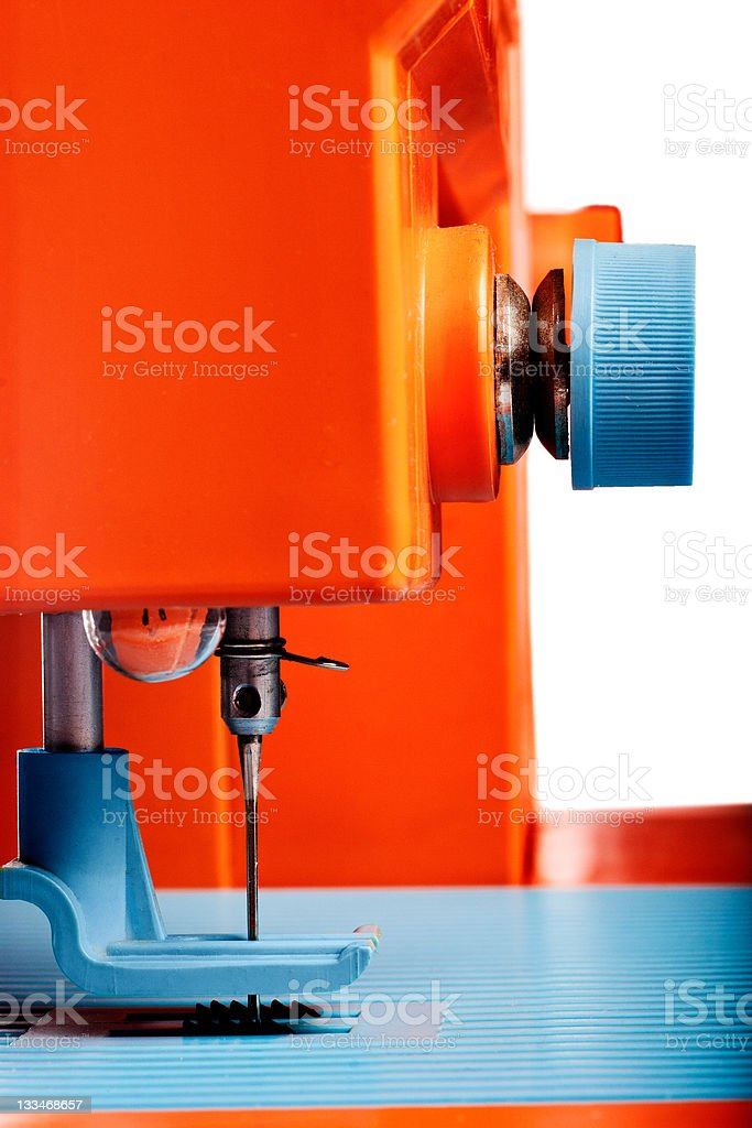 Closeup of sewing machine royalty-free stock photo