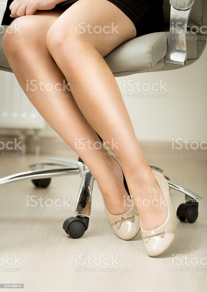 Sexy legs in office