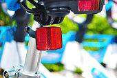 China's bike sharing boom in charts. Shared bikes putted on the street, Jiangmen, Guangdong, China.