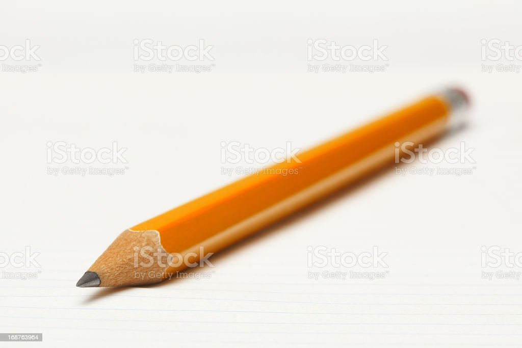 Close-up of Sharp point on a Number 2 Pencil royalty-free stock photo