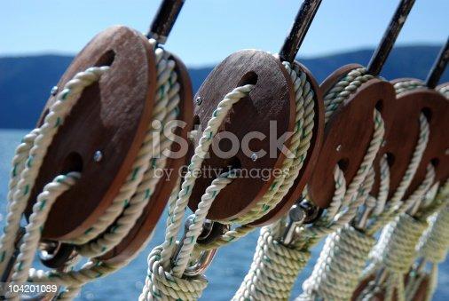 ship rigging close up
