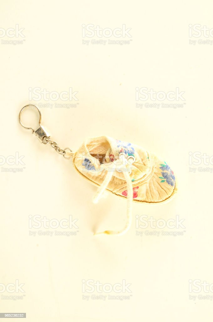 Close-up of shoe keyring royalty-free stock photo