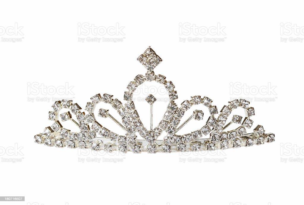Closeup of silver diadem royalty-free stock photo