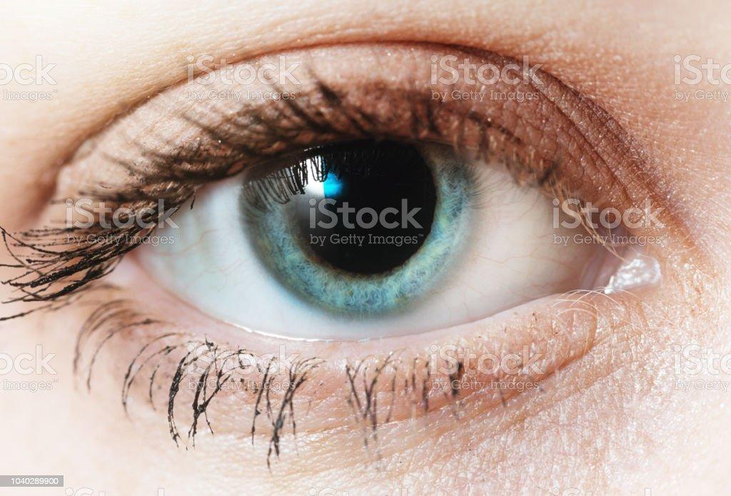 Closeup Of Single Beautiful Blue Eye Stock Photo Download Image Now Istock