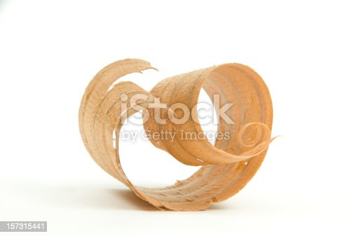cedar wood shaving on 255 white background. see portfolio for other wood curl options.http://www.garyalvis.com/images/buildingProjects.jpg