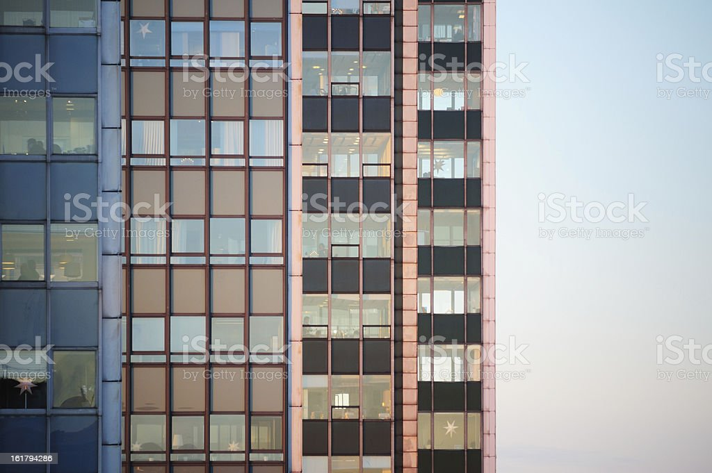 Close-up of Skyscrapers in row royalty-free stock photo