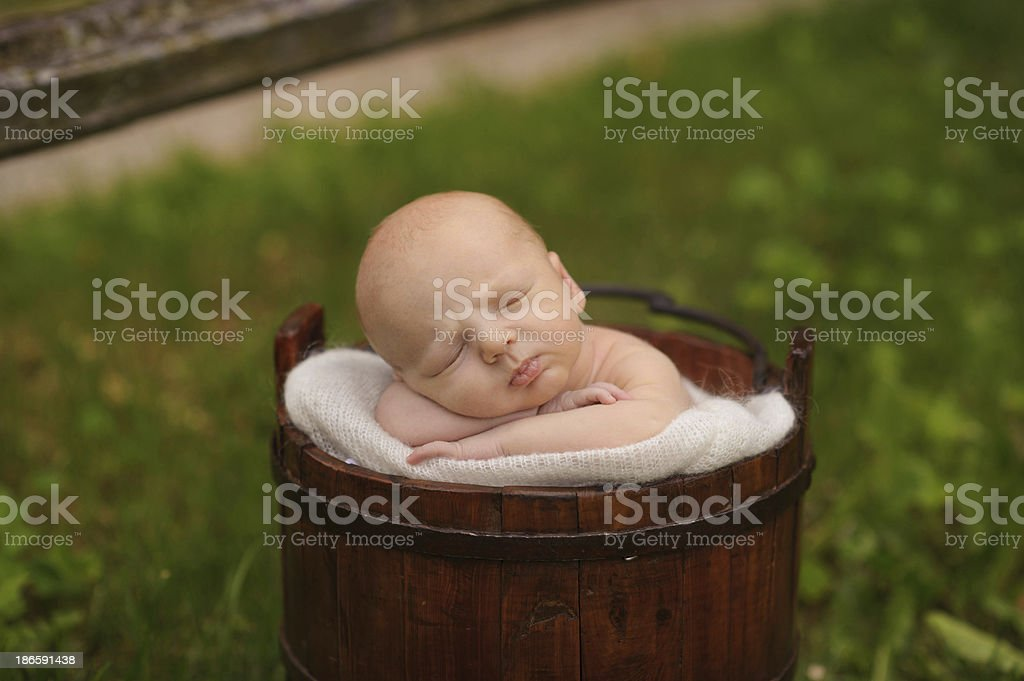 Closeup of Sleeping Newborn royalty-free stock photo