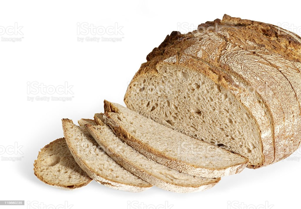 Close-up of slices of freshly baked bread royalty-free stock photo