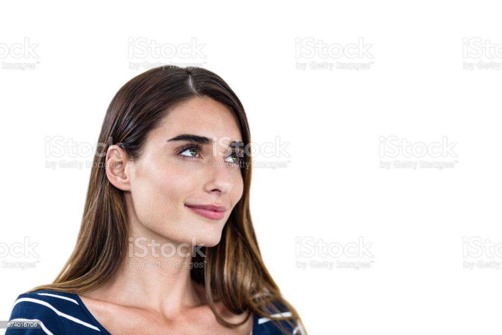 Close-up of smiling young woman royalty-free stock photo
