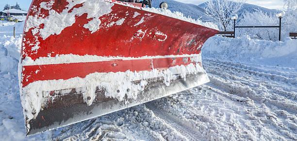 Closeup of snow plough paddle stock photo