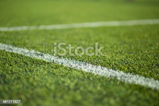 istock Close-up of soccer turf 481211527