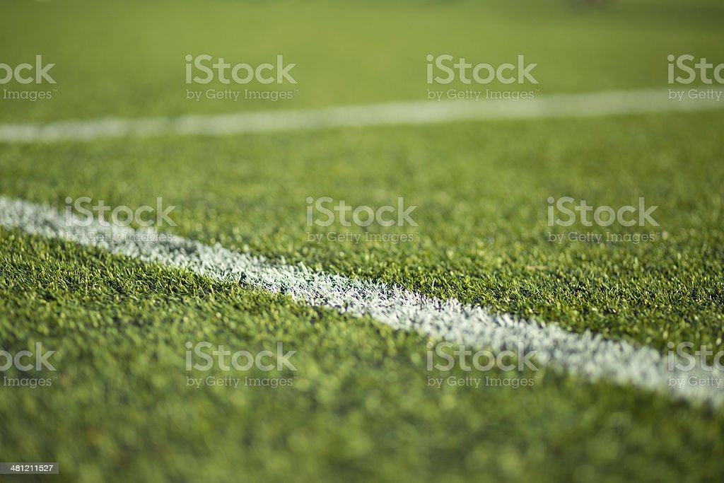 Close-up of soccer turf stock photo