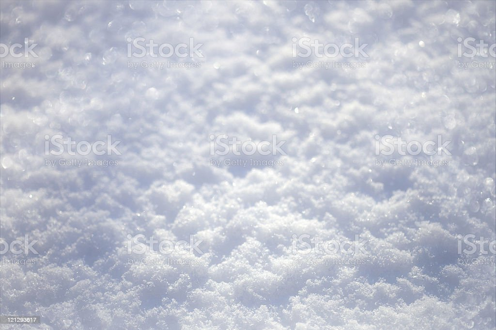 Close-up of soft white snow with light blue shadows royalty-free stock photo