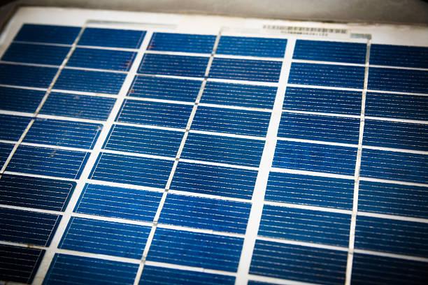 Nahaufnahme von Solarenergie panels photovoltaic – Foto