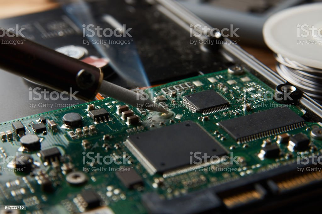 closeup of soldering of electronic circuit board stock photo more rh istockphoto com