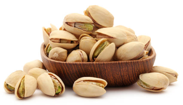 Closeup de un pistacho tostado - foto de stock