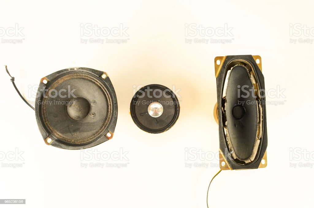 Close-up of speaker royalty-free stock photo