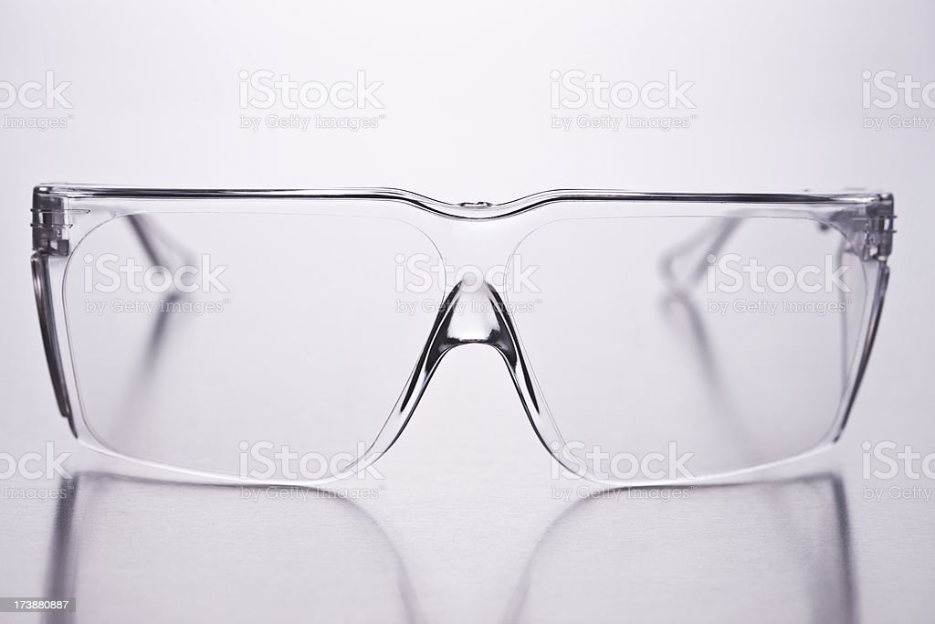 Closeup of spectacles over isolated background stock photo