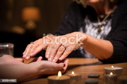istock Close-up of spiritualistic seance 505944892