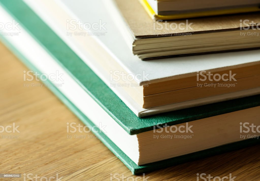 Closeup of stack of antique books educational, academic and literary concept - Royalty-free Ancient Stock Photo