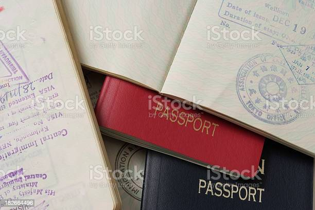 Closeup of stacked passports and stamp page picture id182664496?b=1&k=6&m=182664496&s=612x612&h=mv1758ipnxacjd07mctzrx4tjijv2cyalvvfjevvjks=