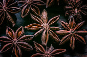 istock Close-up of star anise on wooden old fashioned table 1141537971
