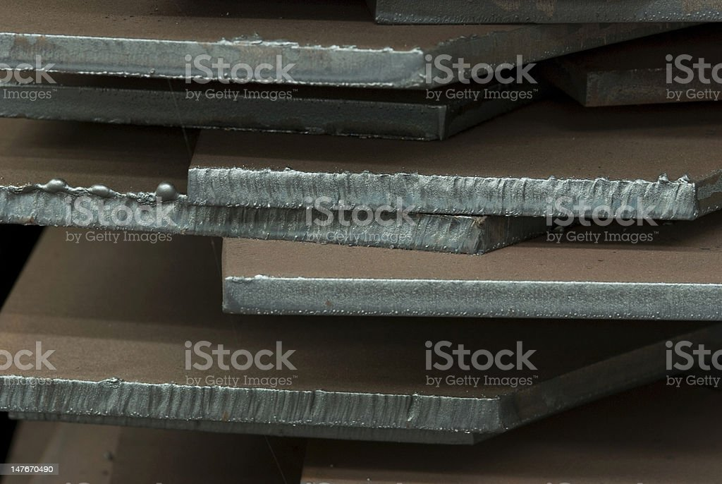Close-up of steel plates stock photo