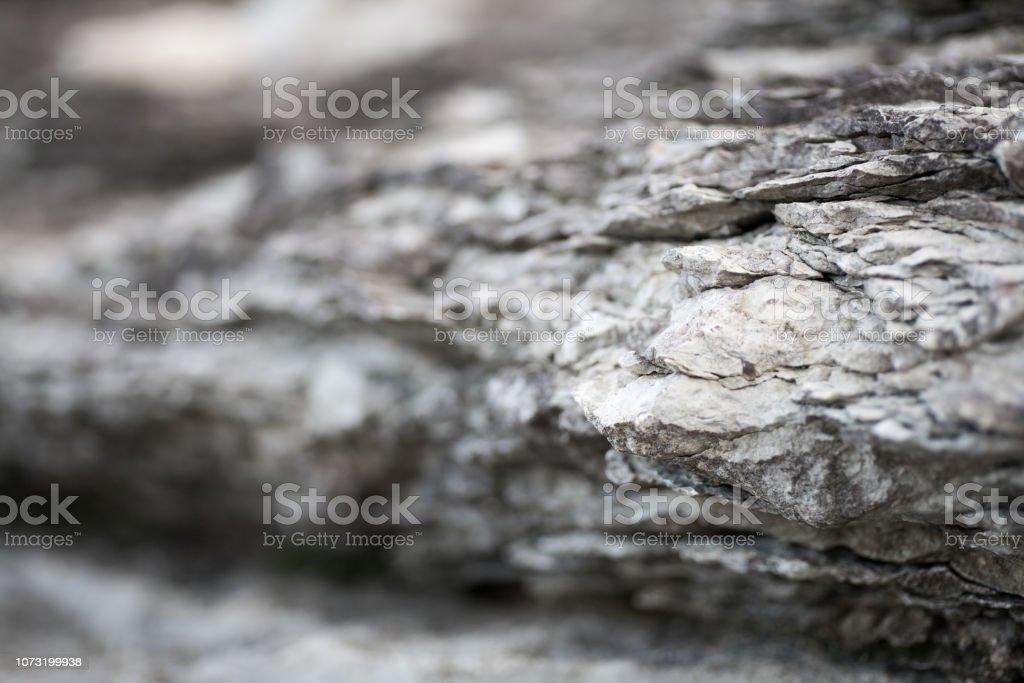 Nahaufnahme von geschichteten texturierten Felsen – Foto