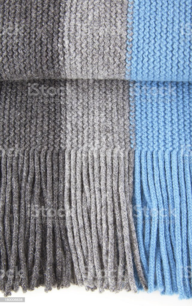 Close-up of 스트라이프드 woolen 스카프 royalty-free 스톡 사진