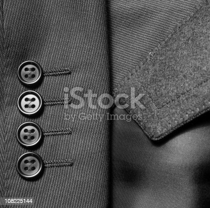istock Close-up of Suit Jacket Buttons 108225144