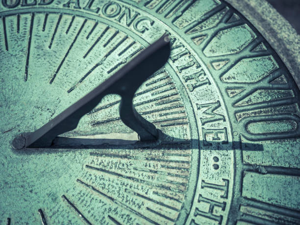 Close-up Of Sundial stock photo