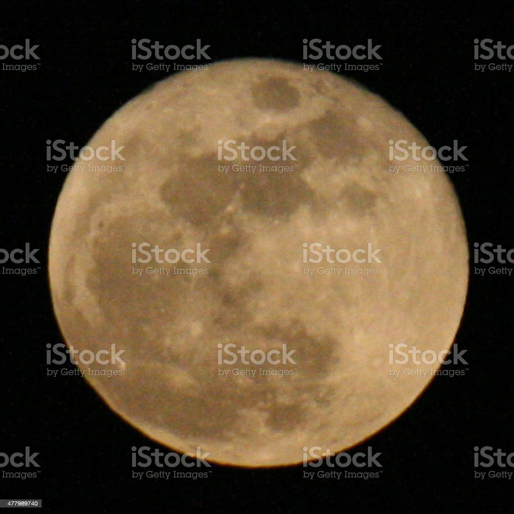 Close-up of Super Moon. stock photo