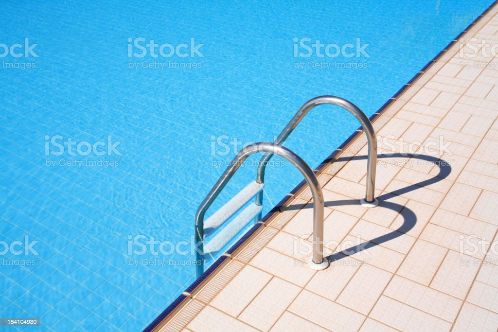 Close-up of Swimming pool ladder stock photo