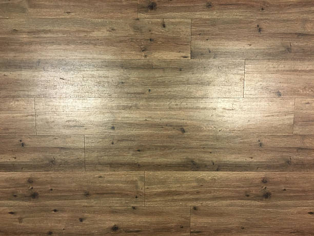 Closeup of synthetic / engineered hardwood flooring stock photo