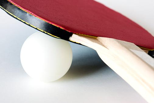 Closeup Van Tafeltennis Uitrusting Stockfoto en meer beelden van Apparatuur